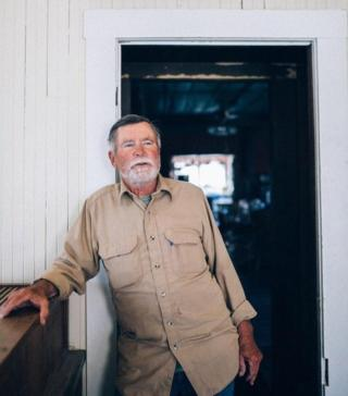 Robert, the only resident of Cerro Gordo ghost town. Vivian Sacks