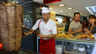 Doner kebab outlet in Ankara, 10 Jul 12
