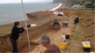 The archaeology site near Seatown