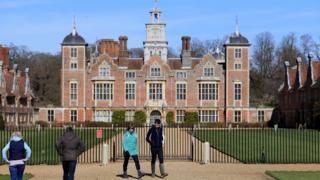 environment Visitors are seen at Blickling Hall and Estate, in Norwich, which has been closed by the National Trust to help fight the spread of coronavirus