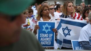 Manifestación contra el antisemitismo en 2015.