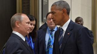 Vladimir Putin (izquierda) y Barack Obama (derecha)
