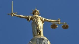 Justice scales Old Bailey