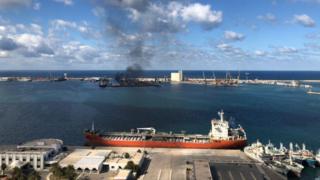 Trablus limanındaki saldırı