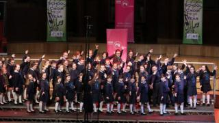 St Lawrence's Primary School, Fintona, winners of the junior category of this year's BBC Radio Ulster School Choir of the Year