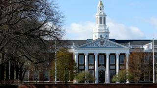 A general view of Harvard University campus is seen on April 22, 2020 in Cambridge, Massachusetts