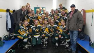 The Humboldt Broncos junior hockey team