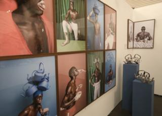 Photographs by Justin Dingwall seen during the annual Joburg Art Fair held at the Sandton Convention centre, Johannesburg, South Africa, 07 September 2018. The art fair has run for a decade and includes works from both South Africa and the rest of the African continent and includes a wide variety of art forms and artists.
