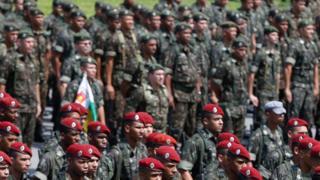 Membros do Exército, em foto de arquivo