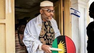 Le leader indépendantiste pro-Biafra Nnamdi Kanu, introuvable depuis un mois.