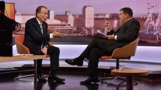 Andrew Marr interviewing Arron Banks