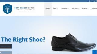 Shoe on website