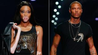 "Winnie Harlow and the ""hot convict"" Jeremy Meeks"