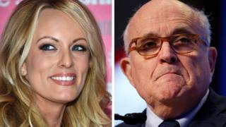 Stormy Daniels and Rudy Giuliani
