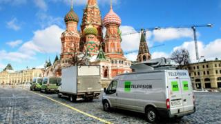 Russia Today van