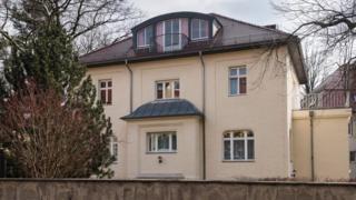 ドレスデン市内のこの建物は冷戦中、KGBの支局だった