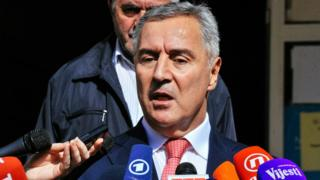 Montenegro's Prime Minister and leader of Democratic Party of Socialists Milo Djukanovic, 16 Oct 16