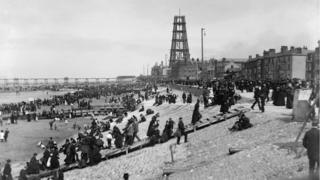 Construction of Blackpool Tower