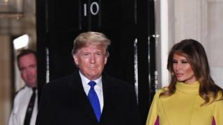 Donald and Melania Trump in Downing Street