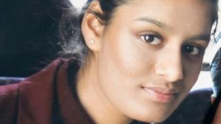 A close up picture of Shamima Begum.