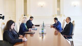 Prezident Əliyev ABŞ dövlət katibinin müşavirinin müavini qəbul edib