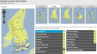 Met Office warning