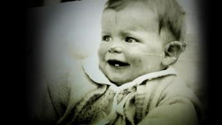 Anthea Ring as a baby