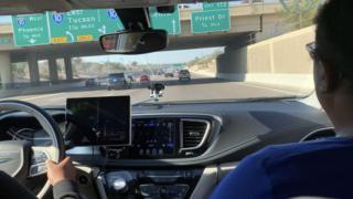 Journey in Waymo car