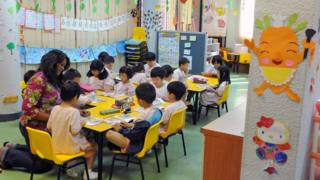 Singapore students in a reading lesson