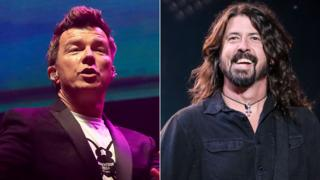 Rick Astley (AFP) and Dave Grohl