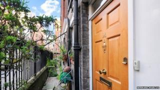 Front door of Covent Garden council flat