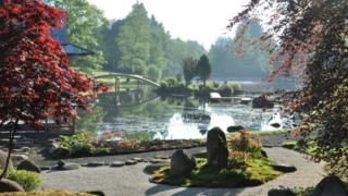 Japanese garden at Cowden Castle