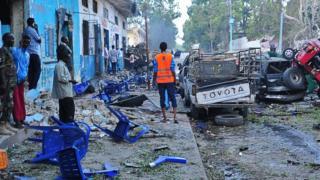 последствия взрыва в столице Сомали