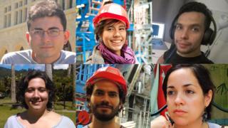 Manuel Vielma, Joany Manjarrés, Arturo Sánchez, Anabel Romero, Heberth Torres y Camila Rangel