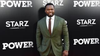 50 Cent at the premiere of Power