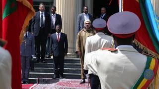 La délégation officielle du Roi du Maroc