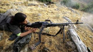 PKK fighter in northern Iraq, file pic, 2005