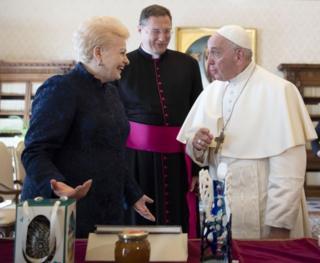 Грибаускайте та Папа