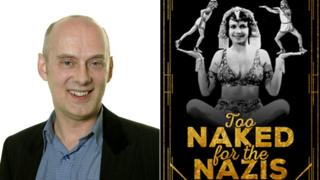 Alan Stafford and the cover of Too Naked for the Nazis