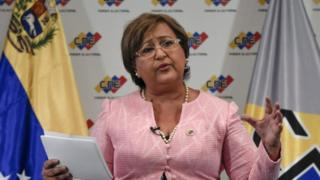 "The head of Venezuela""s National Electoral Council(CNE), Tibisay Lucena, Caracas on August 9, 2016."