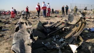 """Обломки """"Боинга-737"""" """"Международных авиалиний Украины"""""""