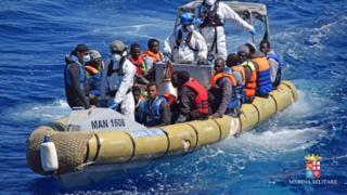 Italian Navy migrant rescue operation