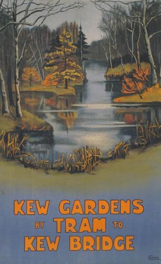 Kew Gardens by Tram poster