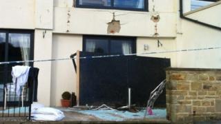 Collapsed balcony at Casa hotel