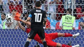 Atajada al penal de Messi