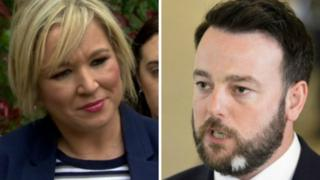 Colum Eastwood and Michelle O'Neill