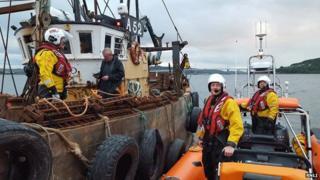 Kessock lifeboat and fishing boat Marigold