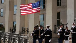 Солдаты у Пентагона