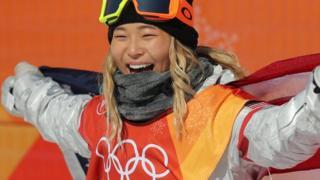 클로이 김이 2018 평창동계올림픽 여자 하프파이프에서 금메달을 차지했다