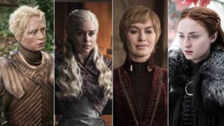 Brienne of Tarth, Daenerys Targaryen, Cersei Lannister, Sansa Stark